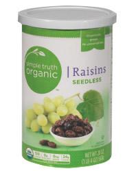 Dried Fruit, Raisins, Simple Truth Organic™ Seedless Raisins (10 oz Can)