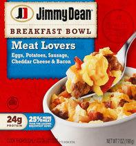 """Breakfast Bowl, Jimmy Dean® Breakfast Bowl """"Meat Lovers"""" (7 oz Box)"""