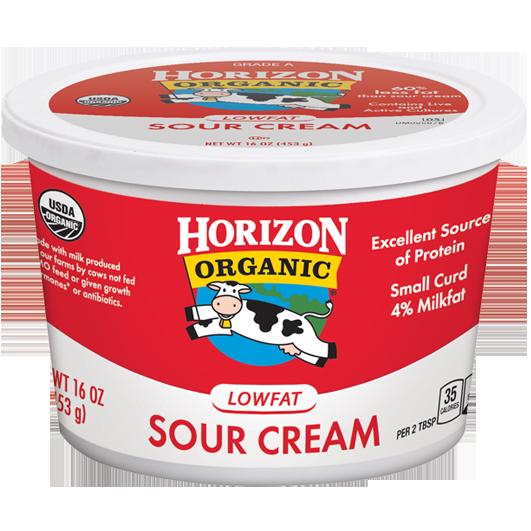 Sour Cream, Horizon® Organic Low Fat Sour Cream (16 oz Cup)