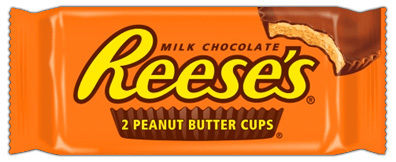 Peanut Butter Cups, Hershey's® Reese's® Snack Size, Single 2 Cup Package