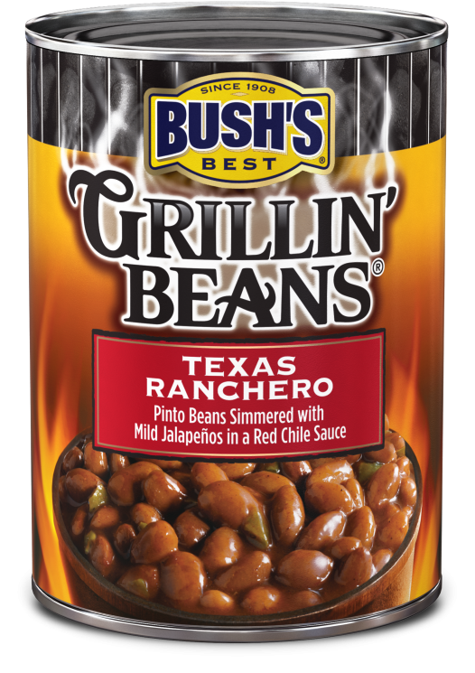 Canned Ranchero Beans, Bush's® Grillin' Beans® Texas Ranchero Beans (22 oz Can)