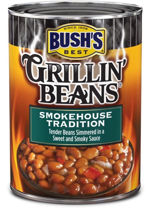 Canned Beans, Bush's® Grillin' Beans® Smoke House Tradition Beans (22 oz Can)