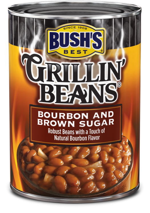 Canned Beans, Bush's® Grillin' Beans® Bourbon and Brown Sugar Beans (22 oz Can)