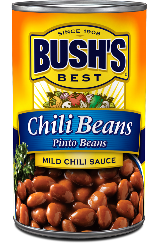 """Canned Pinto Beans, Bush's® """"Mild Chili Sauce"""" Pinto Beans (16 oz Can)"""