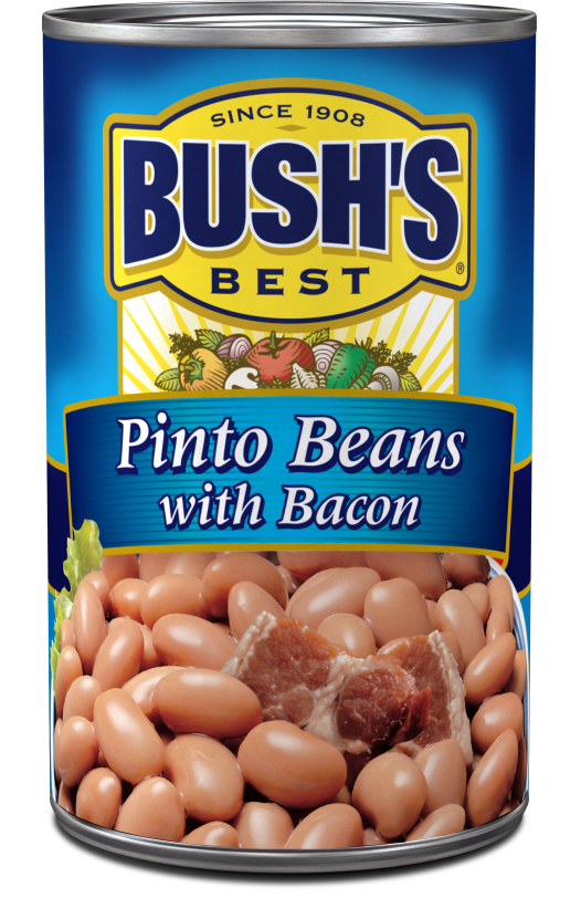 Canned Pinto Beans, Bush's® Pinto Beans with Bacon (16 oz Can)