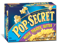 Microwave Popcorn, Pop Secret® Microwave Popcorn with Movie Theater Butter (9.6 oz. Box, 3 Bags)