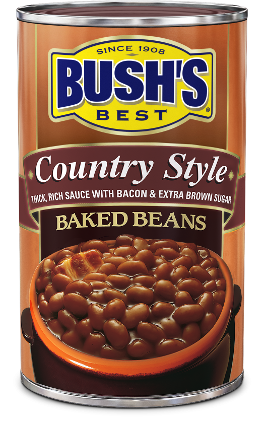 "Canned Beans, Bush's® ""Country Style"" Baked Beans (16 oz Can)"