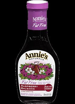 Salad Dressing, Annie's® Raspberry Balsamic Vinaigrette Dressing, Lite (8 oz Bottle)