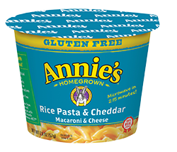 Mac N Cheese Cup, Annie's® Microwavable Gluten Free Rice Pasta & Cheddar (1.62 oz Cup)