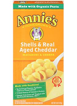 Mac N Cheese Pasta, Annie's® Shells & Real Aged Cheddar (6 oz Box)