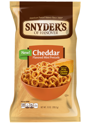 Pretzels, Snyder's® Cheddar Mini  Pretzels, 16 oz Bag