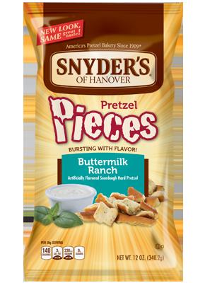 Pretzels, Snyder's® Buttermilk Ranch Pieces, 16 oz Bag