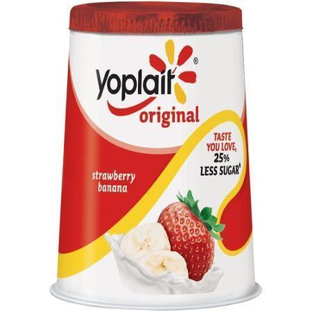 Yogurt, Yoplait® Original Strawberry Banana Yogurt (6 oz Cup)