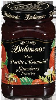 Fruit Spread, Dickinson's® Pacific Mountain® Strawberry Preserves (10 oz Jar)