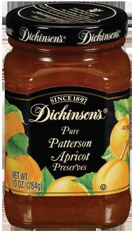 Fruit Spread, Dickinson's® Patterson Apricot Preserves (10 oz Jar)