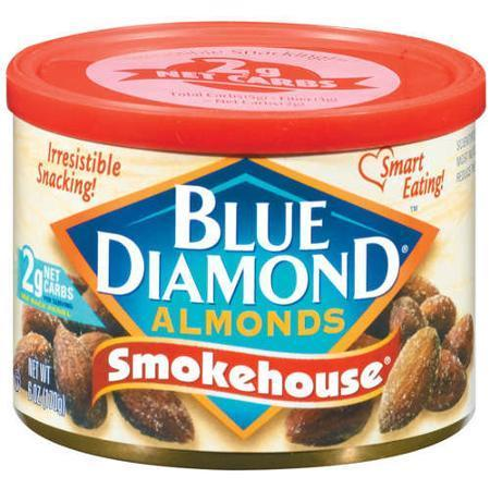 Snack Food, Nuts, Blue Diamond® Almonds, Smokehouse, 6 oz Can