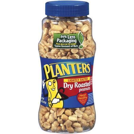 Snack Food, Planters® Dry Roasted Lightly Salted Peanuts (16 oz Jar)