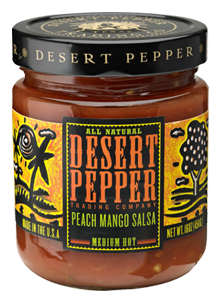 Salsa, Desert Pepper® Medium Peach Mango Salsa (16 oz Jar)