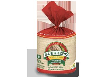 Corn Tortillas, Guerrero® Tortillas de Maíz Blanco, Bag of 80