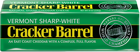 Cheese Block, Cracker Barrel® Block of Vermont Sharp White Cheddar Cheese (8 oz Bag)