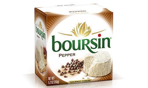Cheese Spread, Boursin® Pepper, 5.2 oz Box