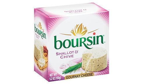 Cheese Spread, Boursin® Shallot and Chive, 5.2 oz Box