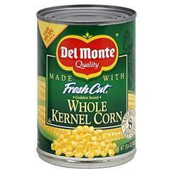 Canned Corn, Del Monte® Fresh Cut Golden Sweet Whole Kernel Corn (15.25 oz Can)