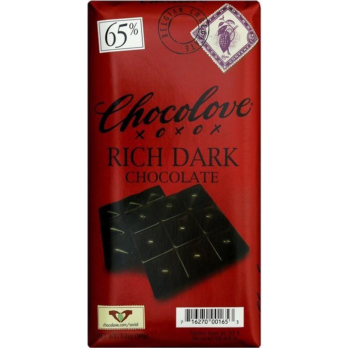 Chocolate Bar, Chocolove XOXOX® Rich Dark Chocolate (3.2 oz Bar)