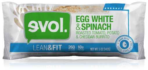 Frozen Burrito, Evol® Egg & White Spinach Burrito (5 oz Bag)
