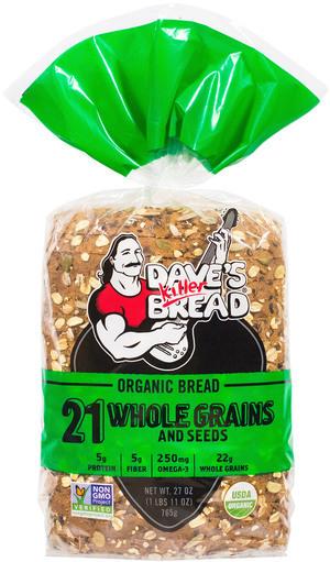 Loaf Bread, Dave's Killer Bread® 21 Whole Grains and Seeds (27 oz Bag)