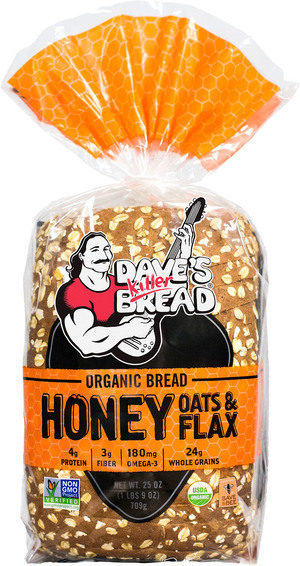 Loaf Bread, Dave's Killer Bread® Honey Oats & Flax (25 oz Bag)