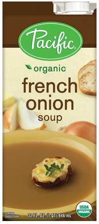 Boxed Organic Soup, Pacific® Organic French Onion Soup (32 oz Box)