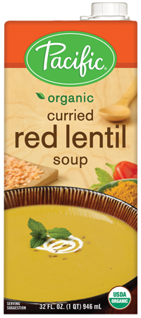 Boxed Organic Soup, Pacific® Organic Curried Red Lentil Soup (32 oz Box)