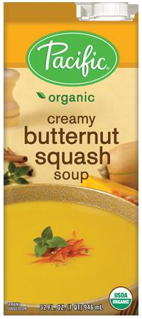 Boxed Organic Soup, Pacific® Organic Creamy Butternut Squash Soup (32 oz Box)