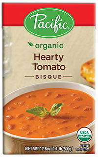 Boxed Organic Soup, Pacific® Organic Hearty Tomato Bisque (17.6 oz Box)