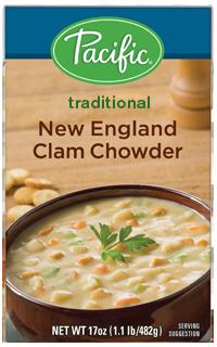 Boxed Organic Soup, Pacific® Organic New England Clam Chowder (17.6 oz Box)