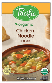 Boxed Organic Soup, Pacific® Organic Chicken Noodle Soup (17.6 oz Box)