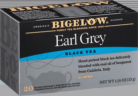 Tea, Bigelow® Black Tea, Earl Grey® 1.28 oz Box (20 Bags)