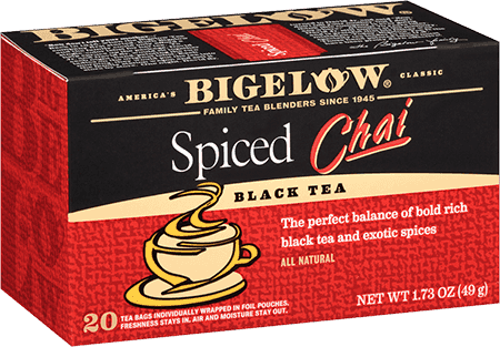 Tea, Bigelow® Black Tea, Spiced Chai Tea® 1.73 oz Box (20 Bags)