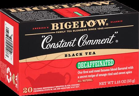 Tea, Bigelow® Black Tea, Constant Comment® Decaf, 1.18 oz Box (20 Bags)