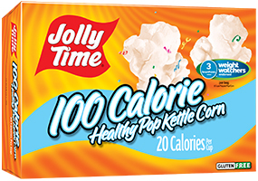 Microwave Popcorn, Jolly Time® Healthy Pop, 100 Calorie, Kettle Corn, 4.8 oz. Box (4 Mini Bags)