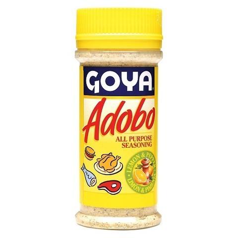 Seasonings, Goya® Adobo, Lemon and Pepper Seasoning, 8 oz Bottle