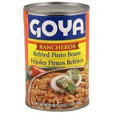 """Canned Refried Beans, Goya® """"Rancheros"""" Refried Pinto Beans (16 oz Can)"""
