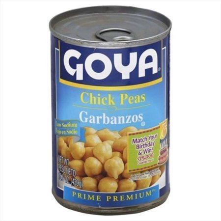 "Canned Garbanzo Beans, Goya® ""Low Sodium"" Garbanzo Beans (15.5 oz Can)"