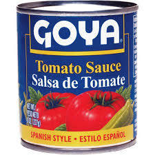 Canned Tomato, Goya® Tomato Sauce, 8 oz Can