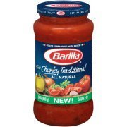 Pasta Sauce, Barilla® Chunky Traditional Sauce (24 oz Jar)