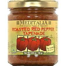 Tapenade, Meditalia® Roasted Red Pepper Tapenade (4.2 oz Jar)