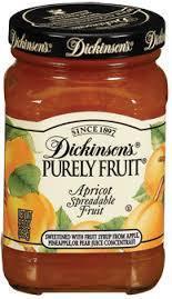 Fruit Spread, Dickinson's® Apricot Spreadable Fruit (9.5 oz Jar)