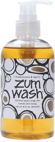 Hand and Body Wash, Zum Wash® FrankIncense-Myrrh Body Wash (8 oz Pump Bottle)