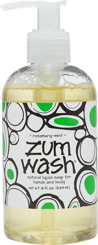 Hand and Body Wash, Zum Wash® Rosemary-Mint Body Wash (8 oz Pump Bottle)